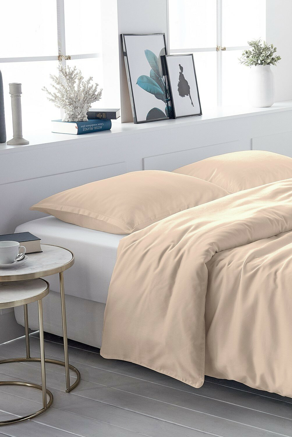 DUVET COVER SATIN-COTTON beige 077