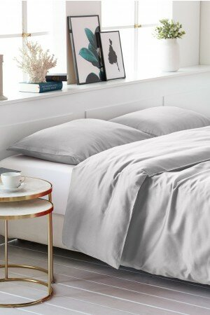 DUVET COVER SATIN-COTTON light grey 4201