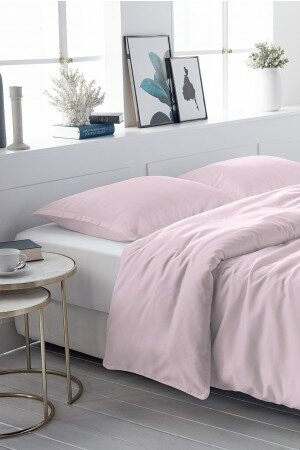 DUVET COVER SATIN-COTTON rose 0001