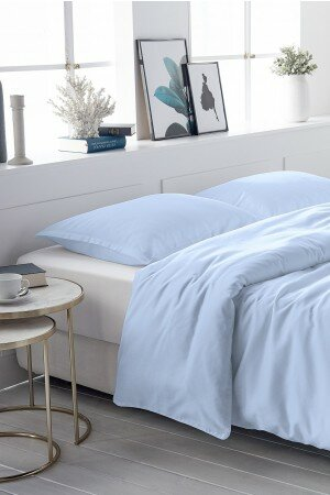 DUVET COVER SATIN-COTTON bleu 0022