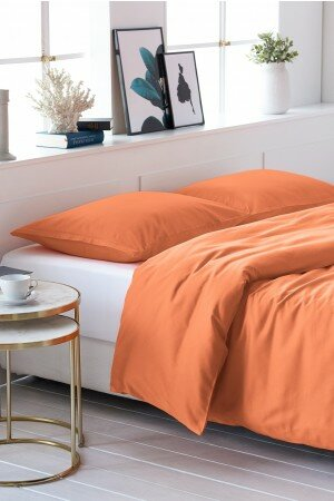 DUVET COVER SATIN-COTTON koralle 0081