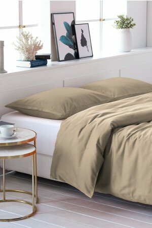 DUVET COVER SATIN-COTTON taupe 1407