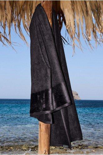 ΠΕΤΣΕΤΑ ΠΑΡΑΛΙΑΣ SOFTFEEL ΜΑΥΡΟ BLACK 0001 95x180cm