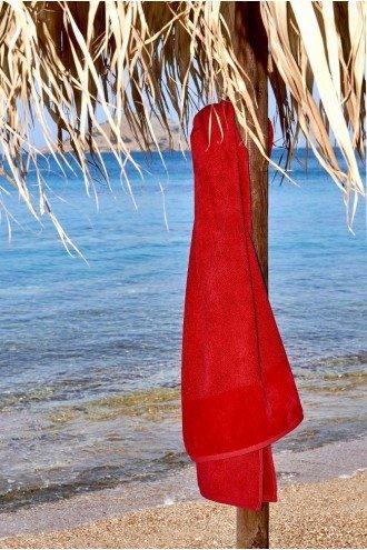 ΠΕΤΣΕΤΑ ΠΑΡΑΛΙΑΣ SOFTFEEL ΚΟΚΚΙΝΟ RED 1760 95x180cm