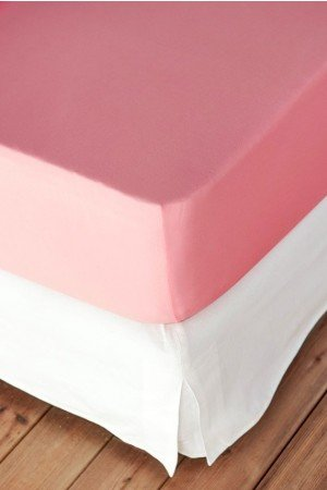 FITTED SHEET FINEJERSEY COTTON ROSE AZALEE 8651