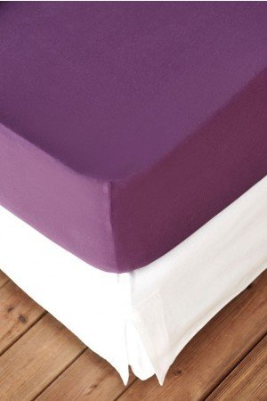 FITTED SHEET FINEJERSEY COTTON LILA BROMBEER 0543