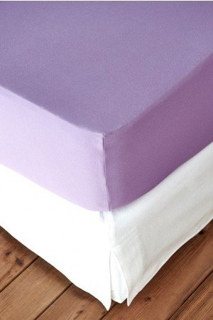 FITTED SHEET FINEJERSEY COTTON LILA MAUVE 8540